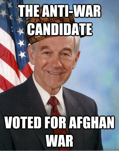 The anti-war candidate Voted for Afghan war
