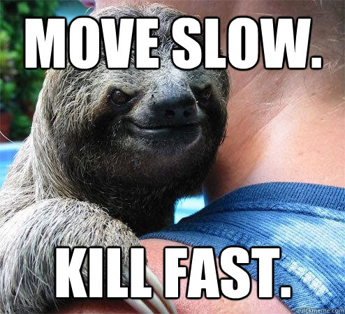 Move slow. Kill fast.