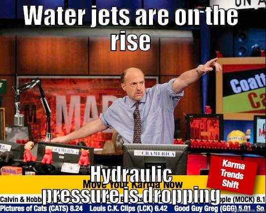 WATER JETS ARE ON THE RISE HYDRAULIC PRESSURE IS DROPPING Mad Karma with Jim Cramer