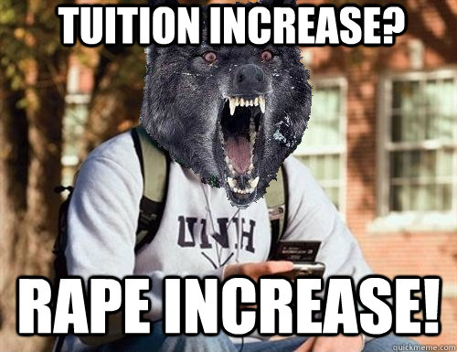 tuition increase? rape increase!