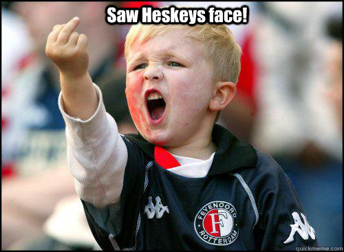 Saw Heskeys face!