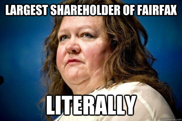 Largest shareholder of fairfax Literally