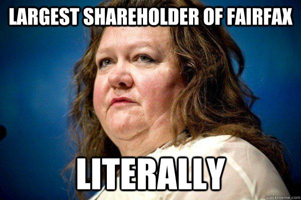 Largest shareholder of fairfax Literally  Spiteful Billionaire