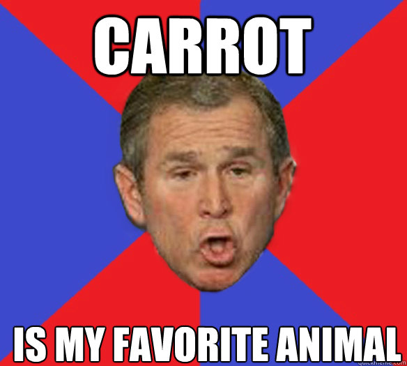 carrot is my favorite animal