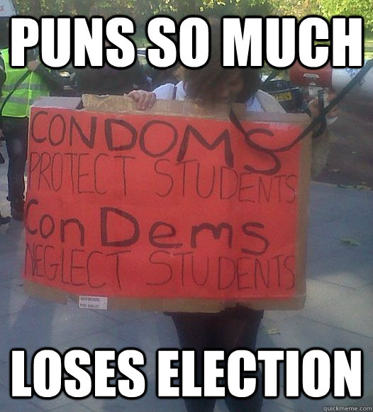 Puns so much Loses election - Puns so much Loses election  lefty pun girl