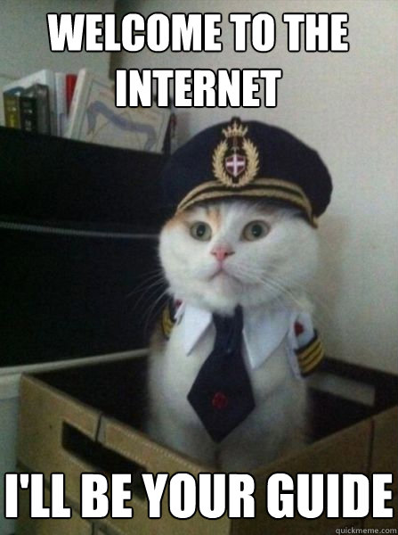 Welcome to the internet I'll be your guide - Captain ... Welcome To The Internet I Will Be Your Guide Meme