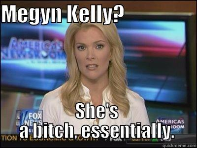 MEGYN KELLY?                   SHE'S A BITCH, ESSENTIALLY. Megyn Kelly