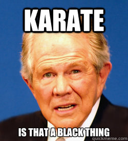 Karate Is that a Black thing  Pat Robertson