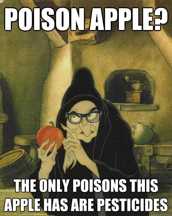 POISON APPLE? The only poisons this apple has are pesticides  Hipster Snow White Witch