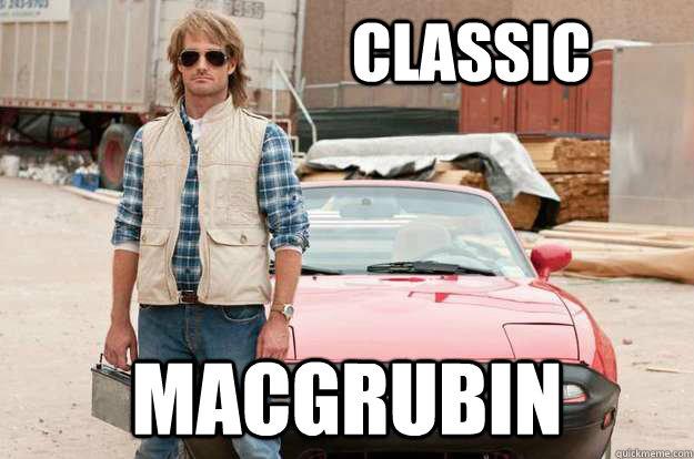 classic Macgrubin  Classic MacGruber