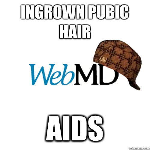 Ingrown pubic hair AIDS