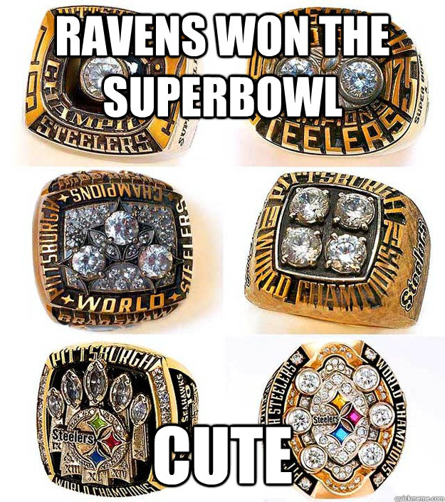 Ravens Won The Superbowl Cute Steelers Quickmeme