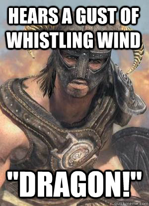 Hears a gust of whistling wind