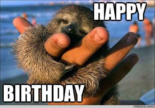 Happy  Birthday  cute baby sloth