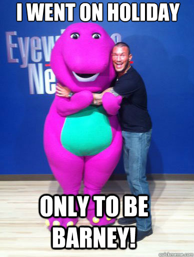 I Went On Holiday Only To Be Barney Wwe Randy Orton Suspended
