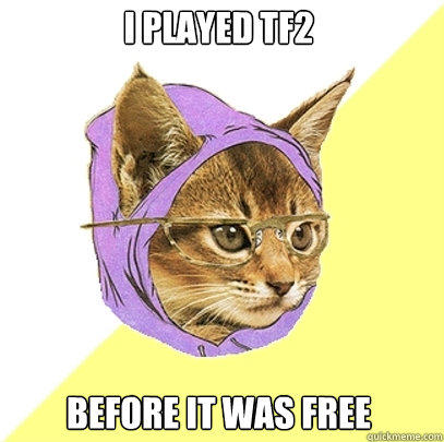 I played TF2 before it was free - I played TF2 before it was free  Hipster Kitty