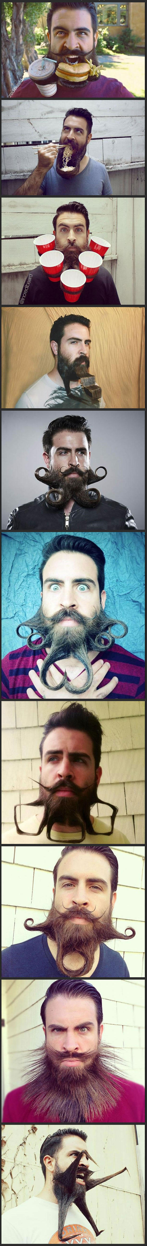 In honor of no shave November, crazy beard guy! -   Misc