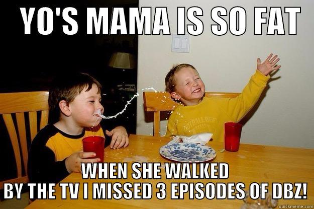 YO'S MAMA IS SO FAT   WHEN SHE WALKED BY THE TV I MISSED 3 EPISODES OF DBZ! yo mama is so fat