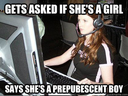 Gets asked if she's a girl Says she's a prepubescent boy - Gets asked if she's a girl Says she's a prepubescent boy  Defiant Gamer