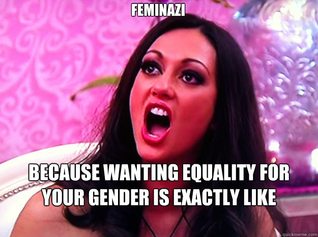 Feminazi Because wanting equality for your gender is exactly like invading Poland. - Feminazi Because wanting equality for your gender is exactly like invading Poland.  Feminist Nazi