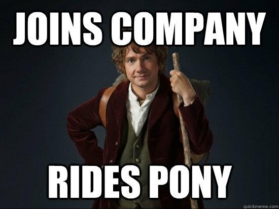 Joins company  rides pony