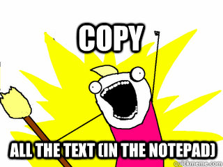 all the text (in the notepad) Copy - all the text (in the notepad) Copy  All The Thigns