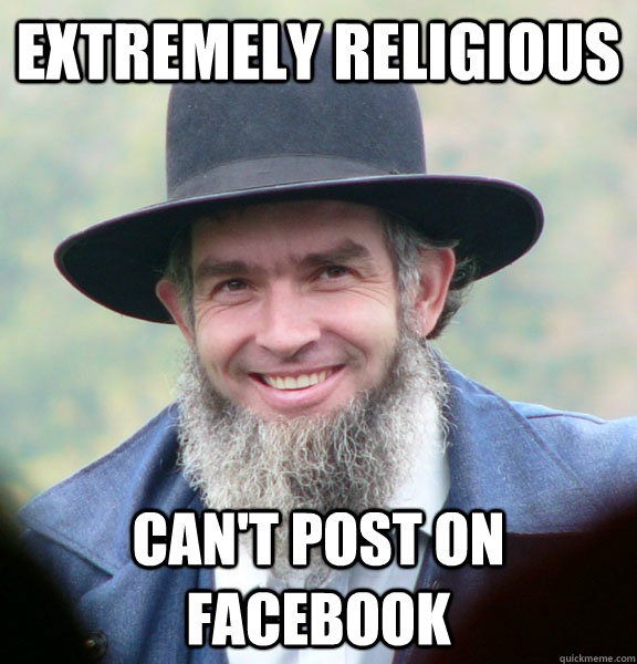 Extremely religious Can't post on Facebook