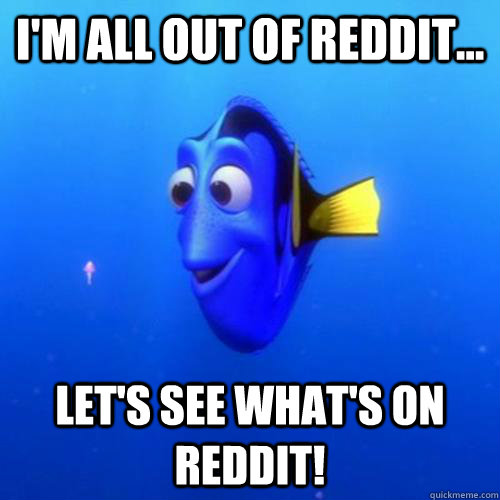 I'm all out of Reddit... Let's see what's on Reddit! - I'm all out of Reddit... Let's see what's on Reddit!  dory