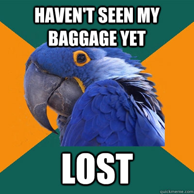 Haven't seen my baggage yet lost  - Haven't seen my baggage yet lost   Paranoid Parrot