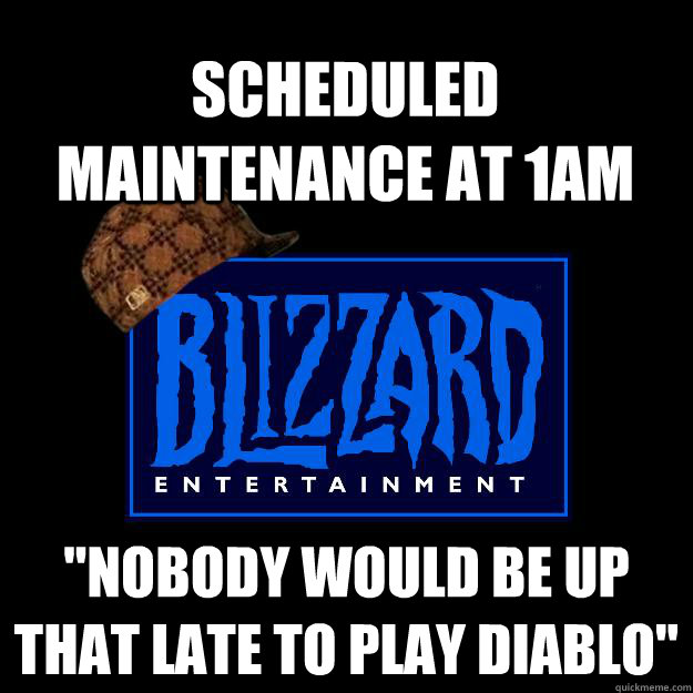 scheduled maintenance at 1AM