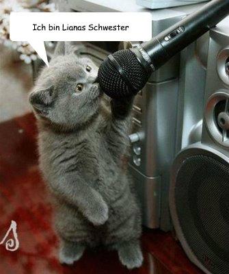Ich bin Lianas Schwester  Singing cat