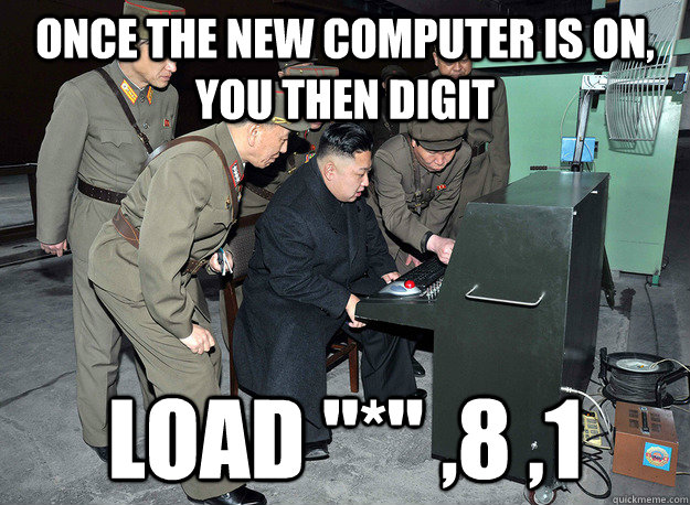 Once the new computer is on, you then digit load