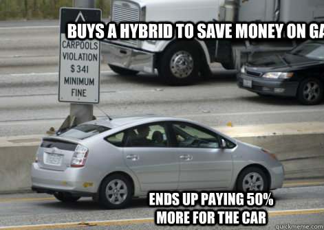 S A Hybrid To Save Money On Gas Ends Up Paying 50 More For The Car