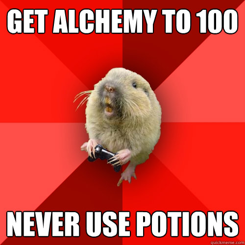 get alchemy to 100 NEVER USE POTIONS  Gaming Gopher