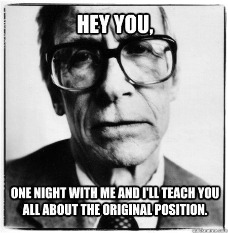 john rawls and the original position