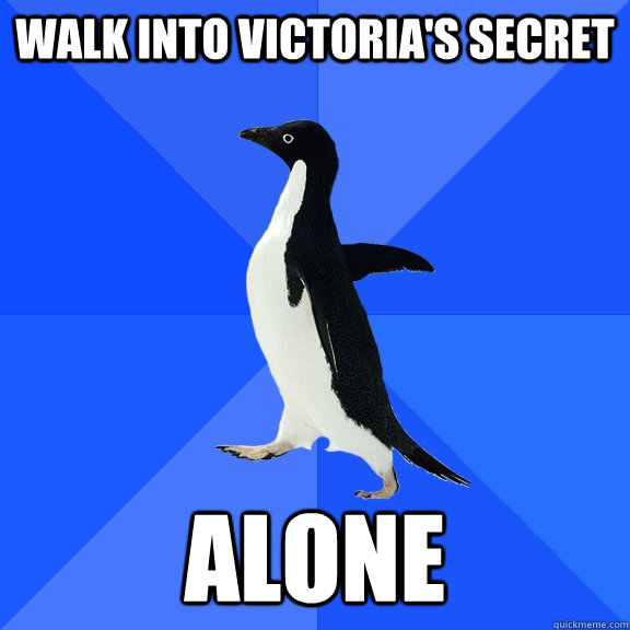 Walk Into Victoria's Secret Alone - Walk Into Victoria's Secret Alone  Socially Awkward Penguin