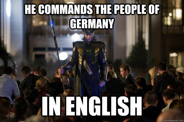 He commands the people of germany in english