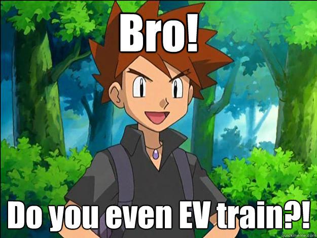 Bro! Do you even EV train?!  Gary Oak