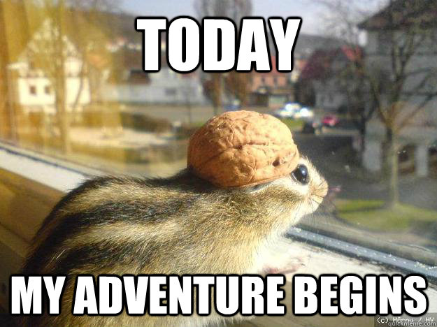 today My adventure begins - today My adventure begins  Adventure Chipmunk
