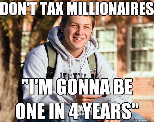 Don't tax millionaires