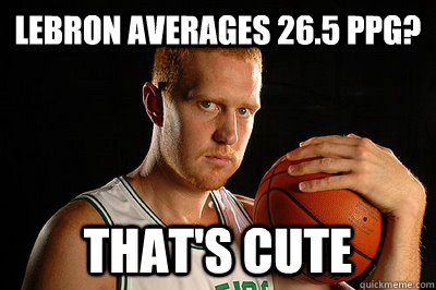 Lebron averages 26.5 ppg? That's cute