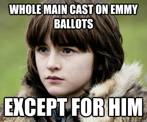 Whole Main Cast on Emmy Ballots except for him