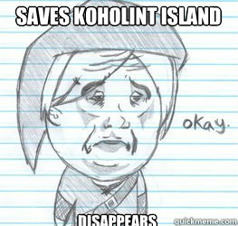 Saves Koholint Island disappears
