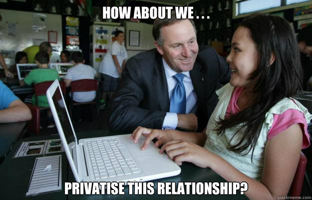How about we . . . Privatise this relationship?