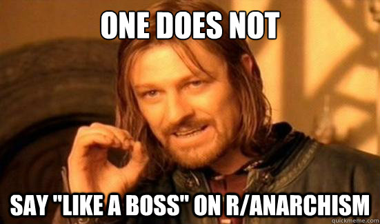 One Does Not say