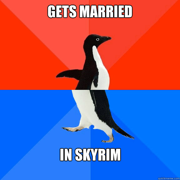 Gets married In skyrim