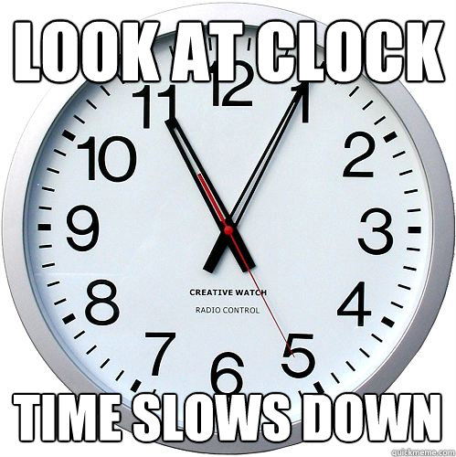 Look at Clock Time slows down