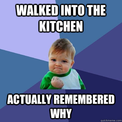 Walked into the kitchen Actually remembered why - Walked into the kitchen Actually remembered why  Success Kid
