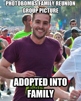 Photobombs family reunion group picture Adopted into family - Photobombs family reunion group picture Adopted into family  Ridiculously photogenic guy
