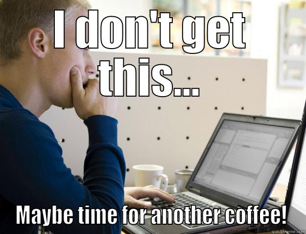 What programmers really spend most of their time doing... - I DON'T GET THIS... MAYBE TIME FOR ANOTHER COFFEE! Programmer